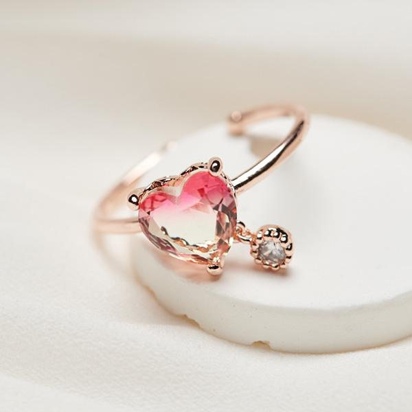 사랑스러운 핑크빛, 로즈골드 링